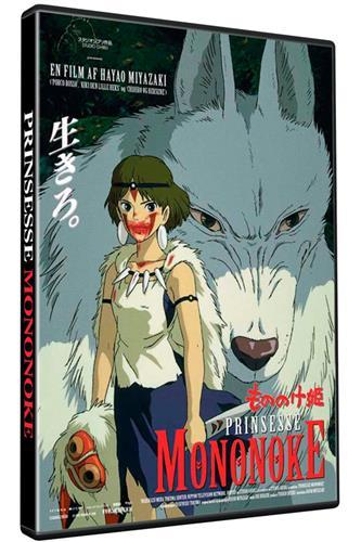 Prinsesse Mononoke (DVD) dansk & japansk tale