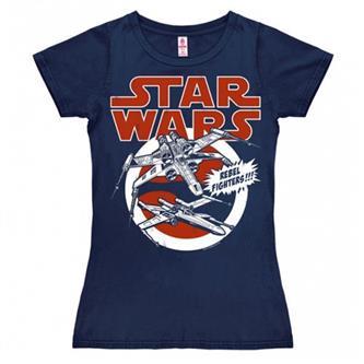 T-Shirt Girl: Star Wars - X-Wings (navy)