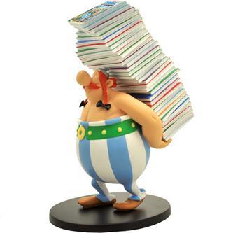 Obelix bærer på Asterix-album