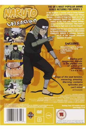 Naruto Unleashed - Complete Series 3 (Ep. 53-78) DVD