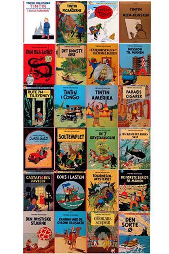 Tintin SC - 24 Eventyr (Komplet)