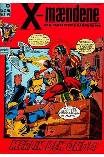 X-Mændene 1974 Nr. 1 (Cuttet Hjørne)