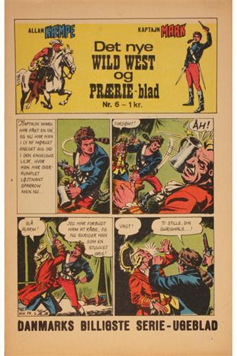 Det Nye Wild West Og Prærie Blad 1967 Nr. 6
