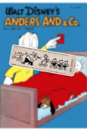 Anders And & Co. 1955 Nr. 4 Løst Indlæg (uden blad)