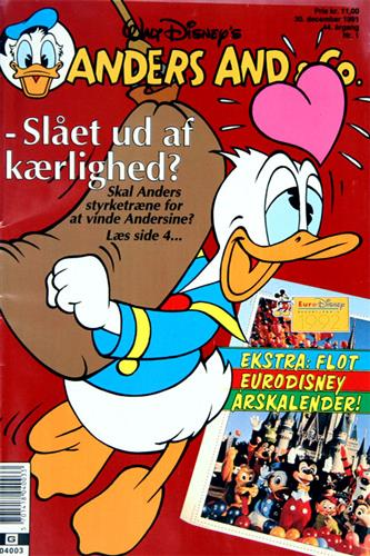 Anders And & CO. 1992 Nr. 1