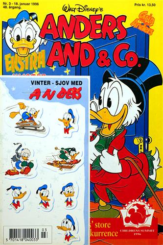 Anders And & CO. 1996 Nr. 3 m. 1 Indlæg