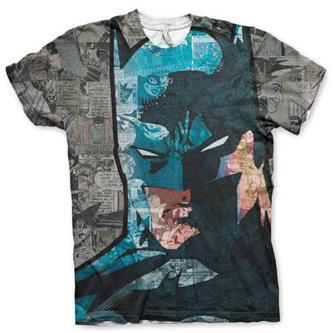 Batman Face-Up Allover Print T-Shirt