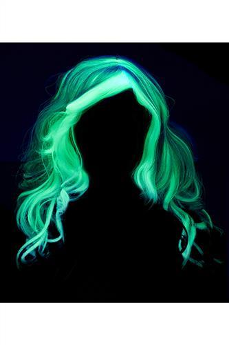 Spøgelse Paryk - Lyser i mørke!