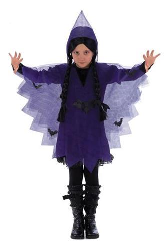 Hekse Kappe, lilla med tryk
