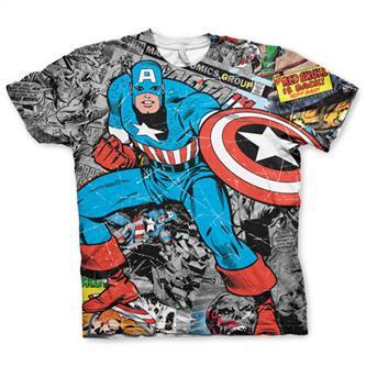 Captain America All Over Print T-Shirt