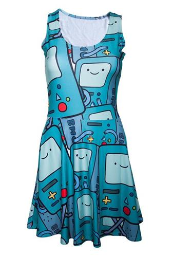 Adventure Time - Beemo All Over Printed Dress