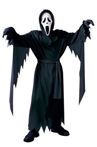Scream kostume med maske
