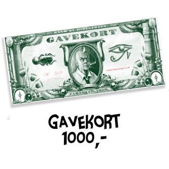 Gavekort 1000 kr.