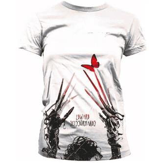 Edward Scissorhands Ladies Sublimation T-Shirt Red Butterfly  Size XL