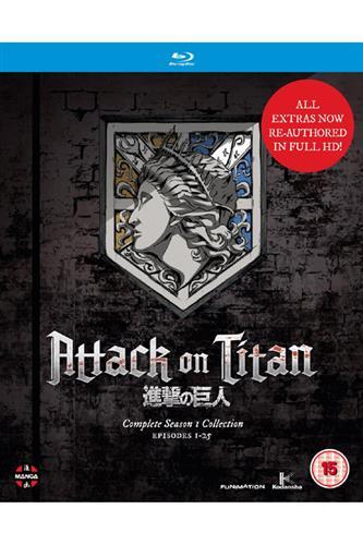 Attack on Titan - Season 1 (Ep. 1-25) Blu-Ray