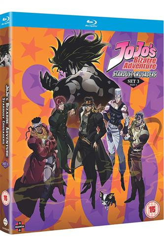 Jojo's Bizarre Adventure S3 - Stardust Crusaders Part Two (Ep. 25-48) Blu-Ray