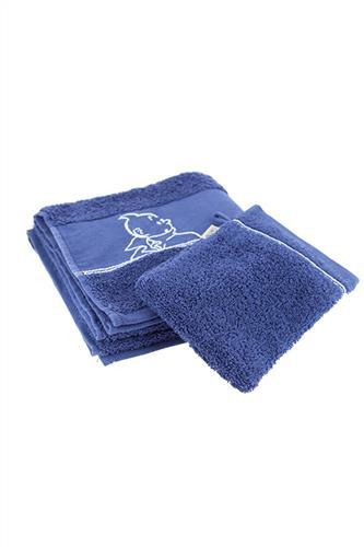Badehåndklæde & Vaskeklud, blå
