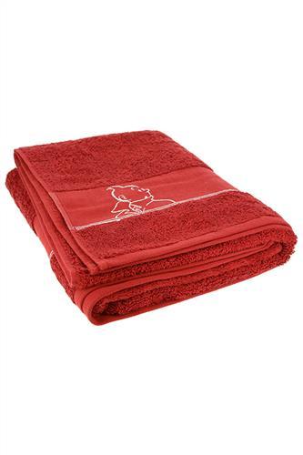 Badehåndklæde - stort, rød