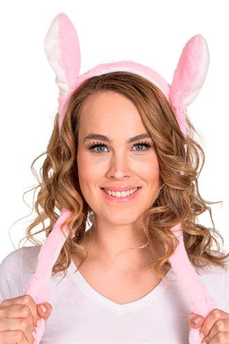 Lyserødt Kanin Hårbånd