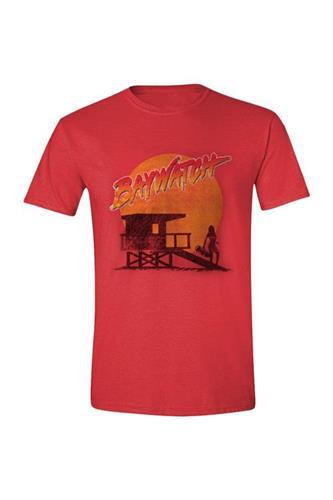 T-Shirt: Baywatch - Beach Hut - Red