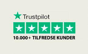 TrustPilot - over 10000 tilfredse kunder
