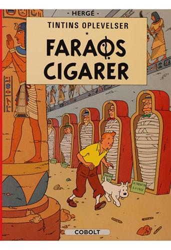 Tegneserier med Tintin og hans oplevelser